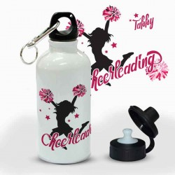 Cheerleader Design Personalised 500ml Kids Aluminium Drinks Bottle. Sports Bottle