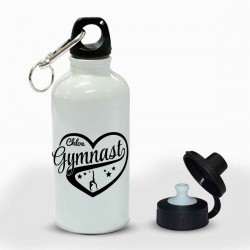 Personalised Gymnastics Heart Sports Drink Bottle.