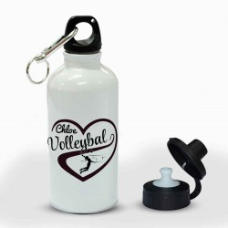 Personalised Love Volleyball Sport Drink Bottle, Heart Design
