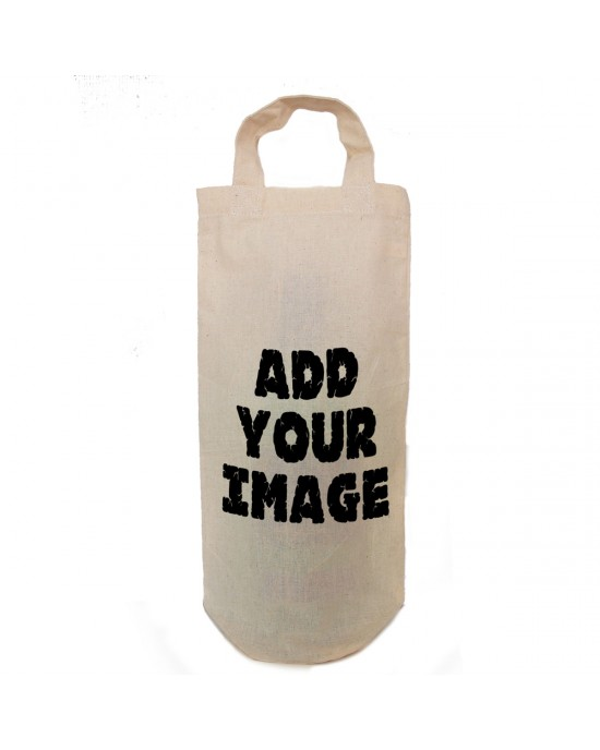 Bottle bag Gift bag, add your own image. Personalised Gift Bottle Bag