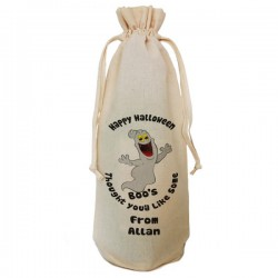 Halloween Party Bottle Gift Bag. Bottle Of Boo's Bag. Draw String Neck Tie Gift Any personal message.