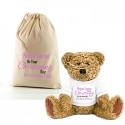 Teddy Bear In A Bag . Lovely Gift, Present Idea. Change the text To Personalise.