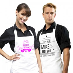 White Adult Apron Sets