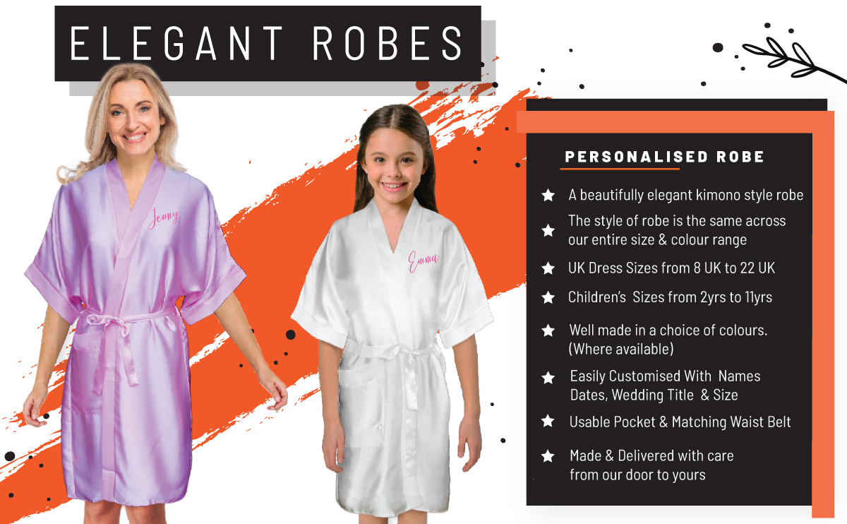 Personalised satin robes banner photo
