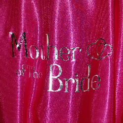 Hot pink mother of the bride robe